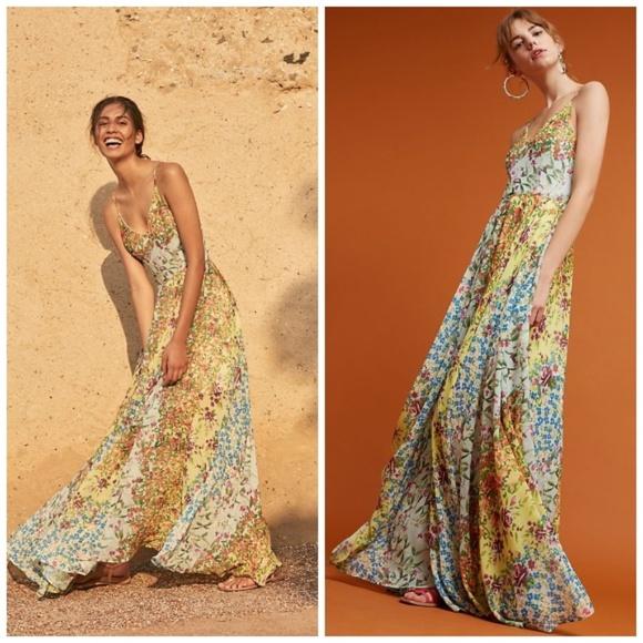 5550b793bdb00 NWT Anthropologie Garden Song Maxi Dress Yumi Kim